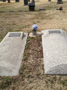 The graves of my great grandparents, A.J. and Rhoda Brown