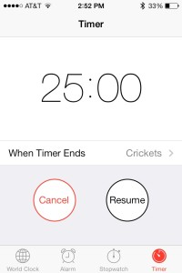 Use a timer to keep you focused and capture small snippets of time