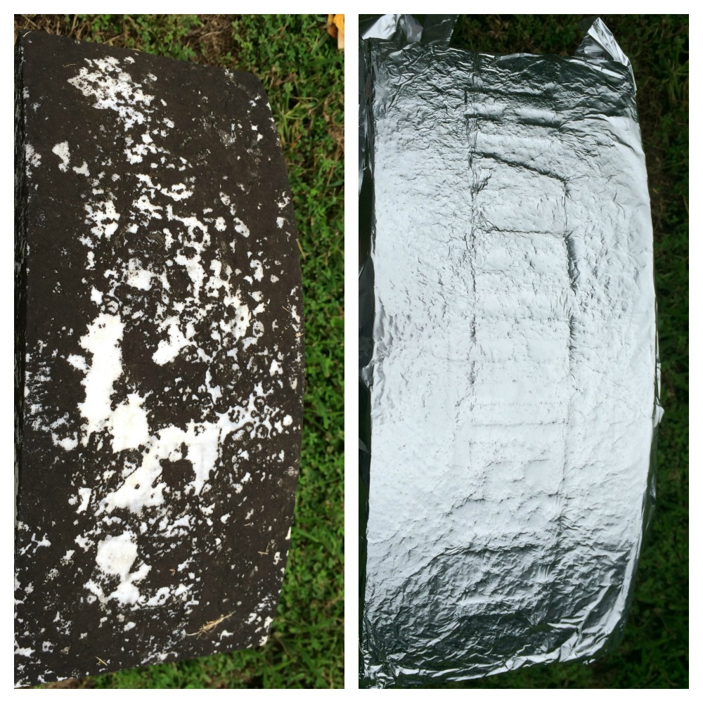 aluminum foil can make hard-to-read gravestones legible again