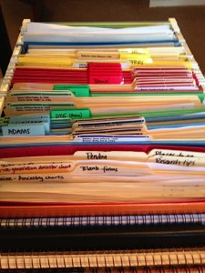 My genealogy file cart