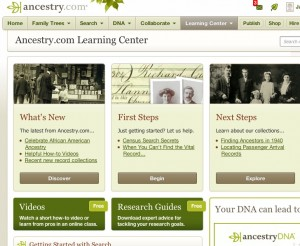 Ancestry.com learning center