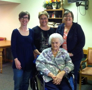 From left: Me, Penny, Sue, Mary (seated)