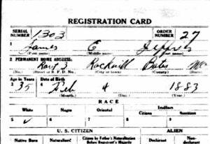 1918 WWI Draft Registration Card-James Jeffries-Bates Missouri cropped