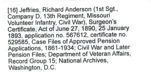 Processing civil war pension files