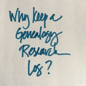 Why keep a genealogy research log?